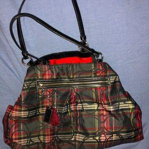 Coach Gabby Tartan Large Shoulder Bag